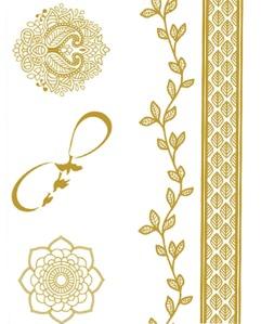 Tatuagem dourada metalizada Ellas Aquatic